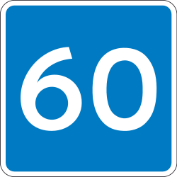 Traffic sign of Denmark: Begin of an advisory speed limit