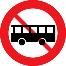 Traffic sign of Denmark: Buses prohibited
