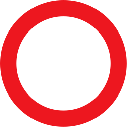 Traffic sign of Denmark: Entry prohibited
