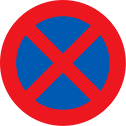 Traffic sign of Denmark: Parking and stopping prohibited