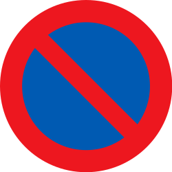 Traffic sign of Denmark: Parking prohibited