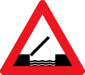 Traffic sign of Denmark: Warning for a movable bridge