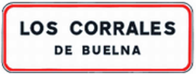 Traffic sign of Spain: Begin of a built-up area