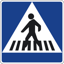 Traffic sign of Spain: Crossing for pedestrians