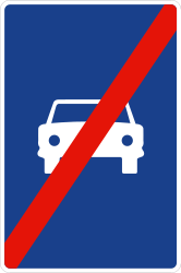 Traffic sign of Spain: End of the expressway