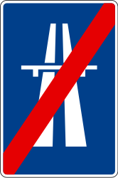 Traffic sign of Spain: End of the motorway