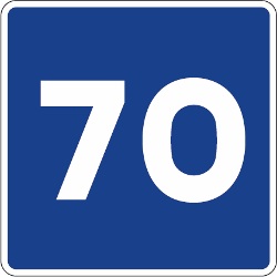 Traffic sign of Spain: Recommended speed
