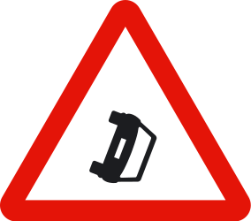 Traffic sign of Spain: Warning for accidents