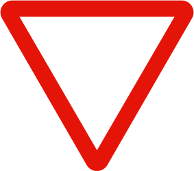Traffic sign of Spain: Give way to all drivers