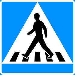 Traffic sign of Finland: Crossing for pedestrians