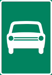 Traffic sign of Finland: Begin of an expressway