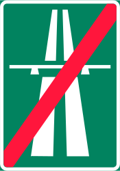 Traffic sign of Finland: End of the motorway