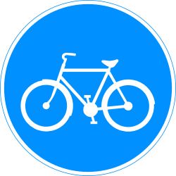 Traffic sign of Finland: Mandatory path for cyclists
