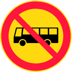 Traffic sign of Finland: Buses prohibited