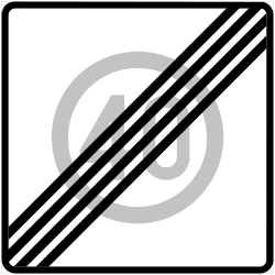 Traffic sign of Finland: End of the zone with speed limit