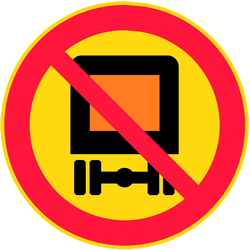 Traffic sign of Finland: Vehicles with dangerous goods prohibited