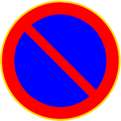 Traffic sign of Finland: Parking prohibited