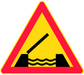 Traffic sign of Finland: Warning for a movable bridge