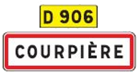 Traffic sign of France: Begin of a built-up area