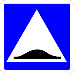 Traffic sign of France: Speed bump