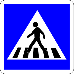 Traffic sign of France: Crossing for pedestrians