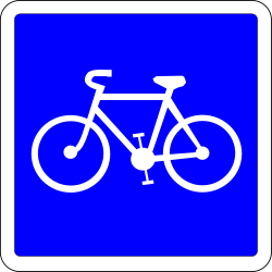 Traffic sign of France: Lane for cyclists