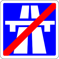 Traffic sign of France: End of the motorway