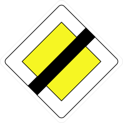 Traffic sign of France: End of the priority road