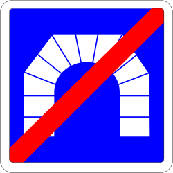 Traffic sign of France: End of the tunnel