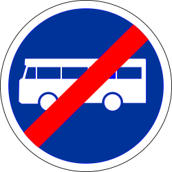 Traffic sign of France: End of the lane for buses