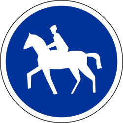 Traffic sign of France: Mandatory path for equestrians