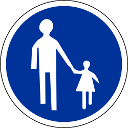 Traffic sign of France: Mandatory path for pedestrians