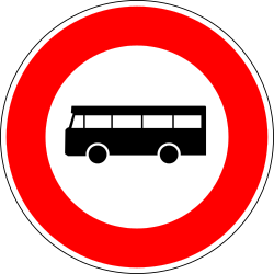 Traffic sign of France: Buses prohibited