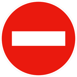 Traffic sign of France: Entry prohibited (road with one-way traffic)