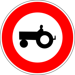Traffic sign of France: Tractors prohibited