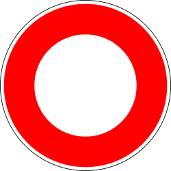 Traffic sign of France: Entry prohibited