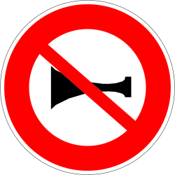 Traffic sign of France: Using the horn prohibited