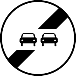 Traffic sign of France: End of the overtaking prohibition