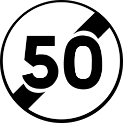 Traffic sign of France: End of the speed limit