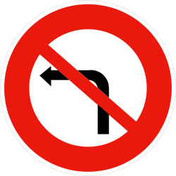 Traffic sign of France: Turning left prohibited