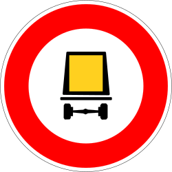 Traffic sign of France: Vehicles with dangerous goods prohibited