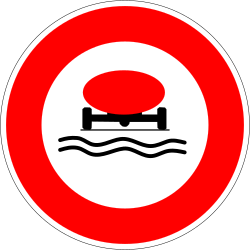 Traffic sign of France: Vehicles with polluted fluids prohibited