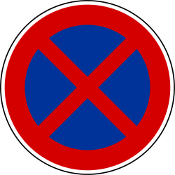 Traffic sign of France: Parking and stopping prohibited