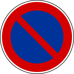 Traffic sign of France: Parking prohibited