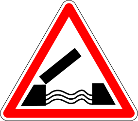 Traffic sign of France: Warning for a movable bridge