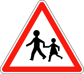 Traffic sign of France: Warning for children