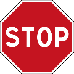 Traffic sign of France: Stop and give way to all drivers