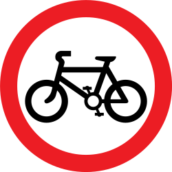 Traffic sign of United Kingdom: Cyclists prohibited