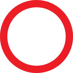 Traffic sign of United Kingdom: Entry prohibited