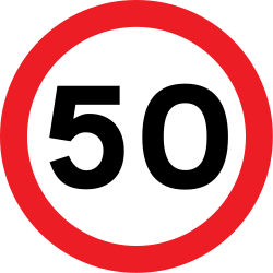 Traffic sign of United Kingdom: Driving faster than indicated prohibited (speed limit)